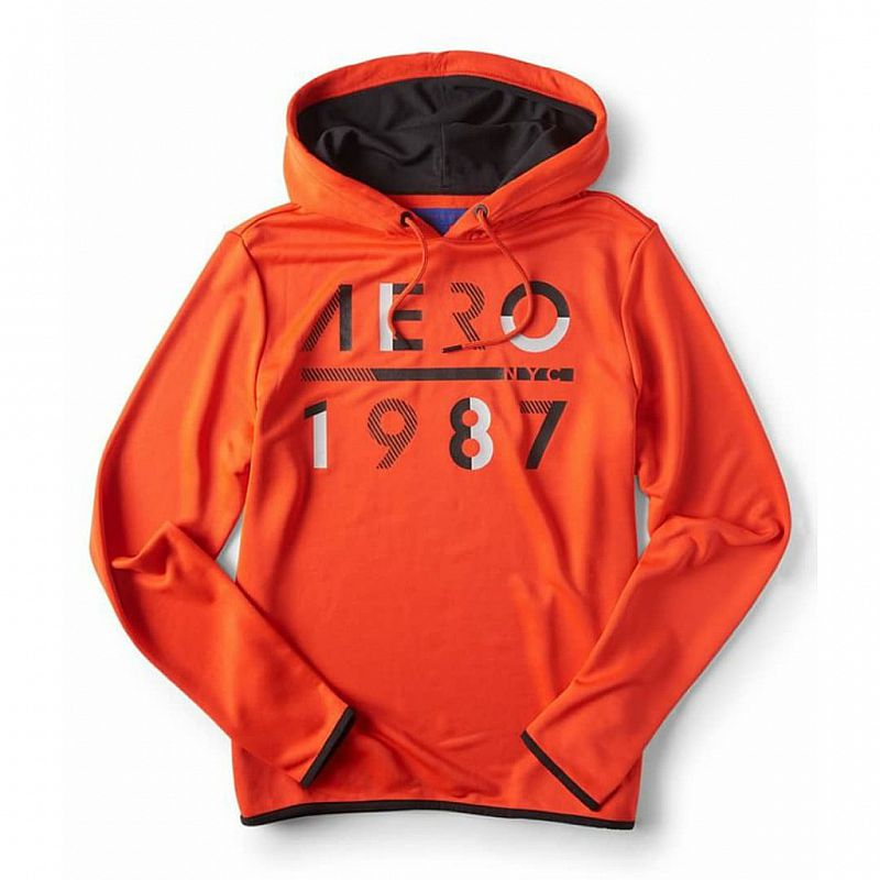 A87 Men 1987 Atheletic Pullover Hoodie Rose Merlot